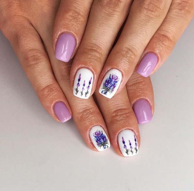 21 Floral Nail Art Designs That Are Perfect For The Summer Lavenderoom